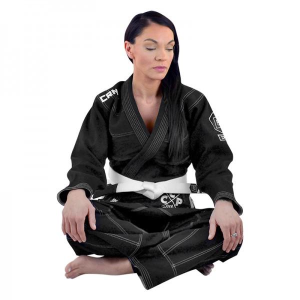 Женское кимоно для бразильского Джиу-Джитсу COMBAT CORNER V5 Черное