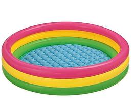 Детский надувной бассейн Интекс.Бассейны и товары для плавания.Бассейны надувные круглые.
