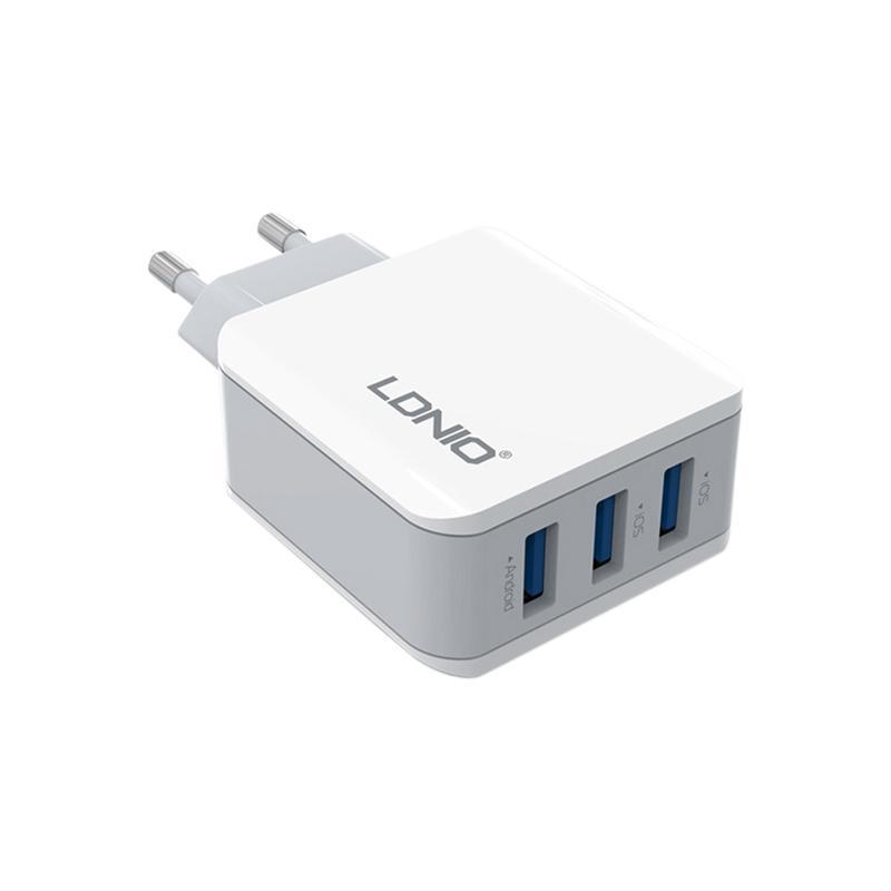 СЗУ 3USB LDNIO (3.1A) White (DL-A3301)