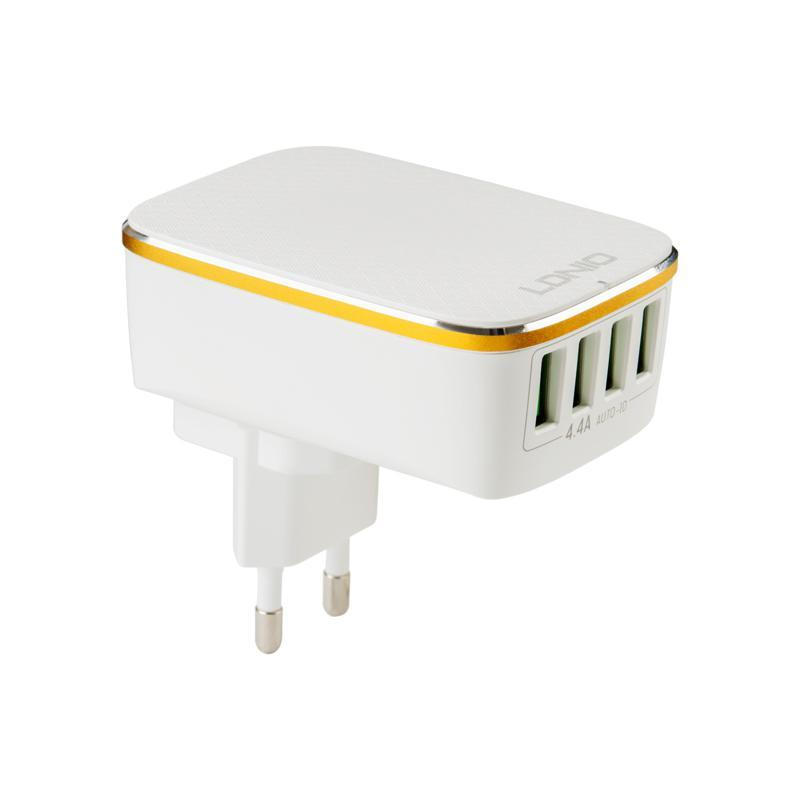 СЗУ 4USB LDNIO (4.4A) White (DL-A4404)
