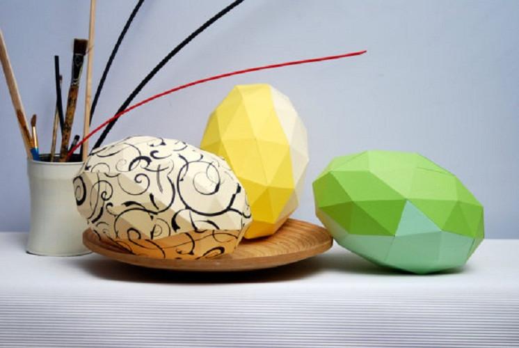 Papercraft Пасхальные яйца 3 штуки