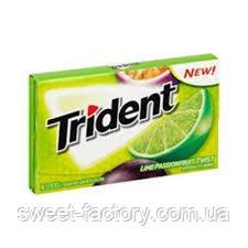 Жевательная резинка Trident Лайм - Маракуйя