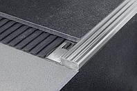 Накладной профиль из нержавеющей стали для защиты ступеней SIS h=10 мм