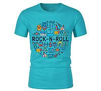 Футболка ROCK-N-ROLL для мужчин бирюзовая