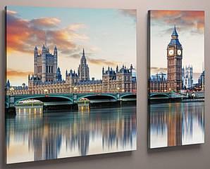 Картина модульная мост Лондон 100х60