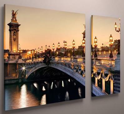 Модульная картина 100х60, Лондонский мост, холст