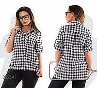 Рубашка женскаяв стиле сафари (3 цвета) - Белый/черный SD/-8460