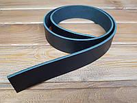 Полоса ременная из натуральной кожи  цвет черный 1300*38*4 мм