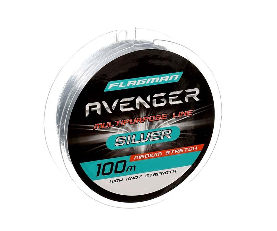 Волосінь Flagman Avenger Silver Line 100м 0.40 мм