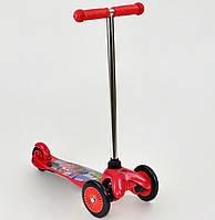 """Самокат """"Тачки"""" для хлопчиків 3-5 років колеса PVC, переднє колесо d=12см, заднє d=9см"""