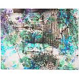 Палантин из вискозы 10676-1, павлопосадский палантин из вискозы, размер 65х200, фото 4