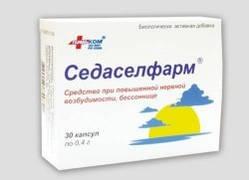 Седаселфарм®, капсулы 0,4 г №30