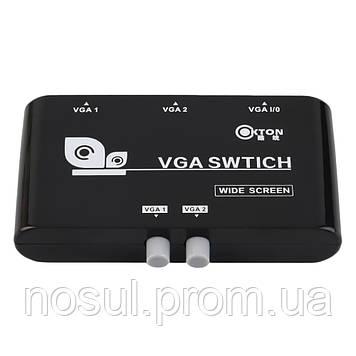 Свитчер VGA 2 портовый 2 входа -1 выход switch свич