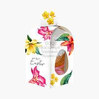 Коробка для кулича с окном №3 - Цветы - 300-350 г