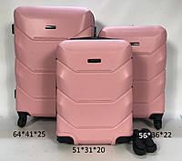 Мини пластиковый чемодан FLY 147 на 4 колесах (ручная кладь), фото 1
