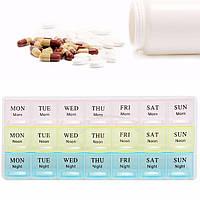 Таблетница - контейнер для таблеток на 21 дней, органайзер цветной, фото 1