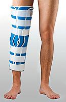 Жесткая шина для ноги с 5-тью металлическими ребрами жесткости(50 см), фото 1