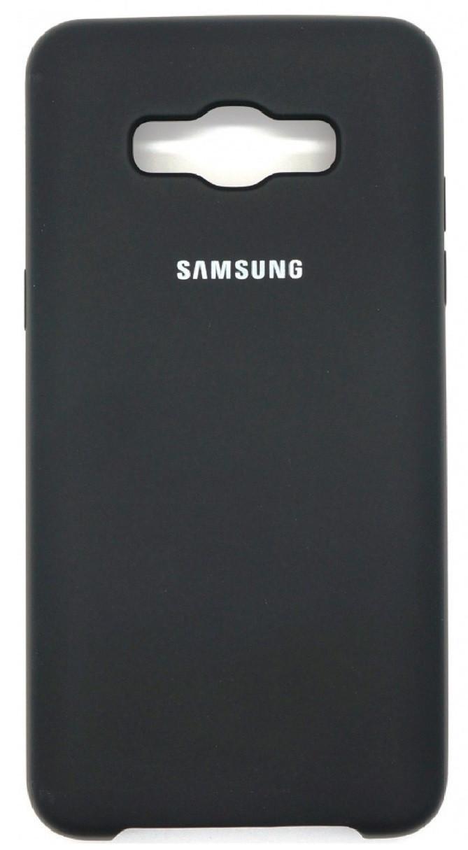 Силиконовый чехол для Samsung J510 Soft Touch Black