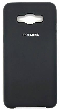Силиконовый чехол для Samsung J510 Soft Touch Black , фото 2