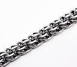 Браслет серебряный большой плетение Бисмарк, фото 2