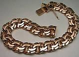 Браслет серебряный большой плетение Бисмарк, фото 3
