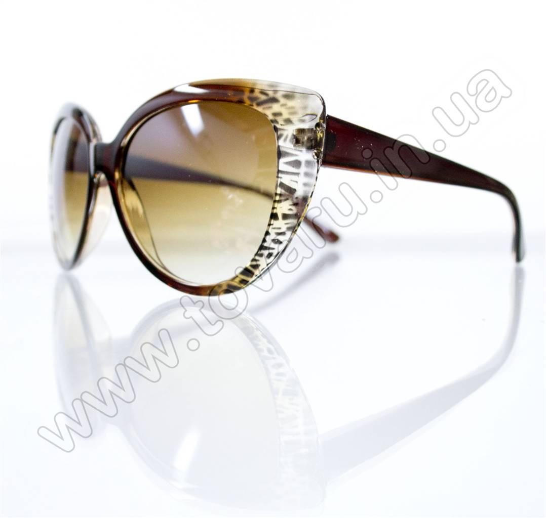 Очки женские солнцезащитные - Кошачий глаз - Коричневые - 5935
