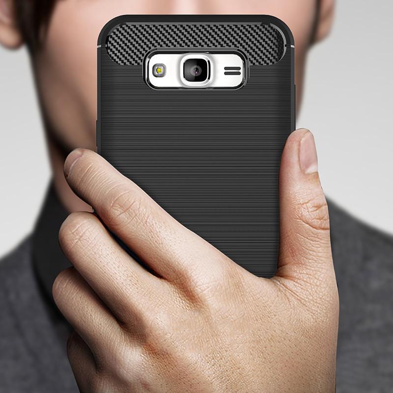 Силикон для Samsung J510 Black Carbon iPAKY