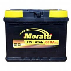 Аккумулятор Moratti 62Ah 610A