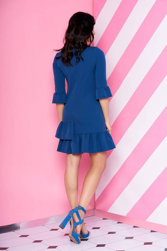 Красивое синее платье с рюшами, фото 2