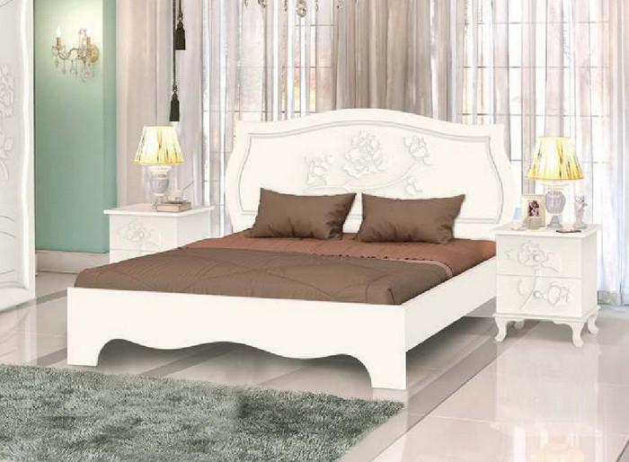 """Кровать """"Роза"""" Белый"""
