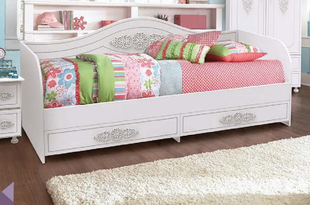 """Кровать Тахта """"Анжелика"""" 80х190/200 см. Белый матовый"""