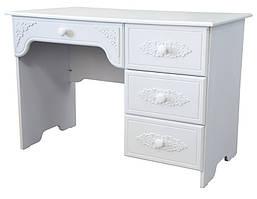 "Стол письменный ""Анжелика"" 110х60х75 см. Белый матовый"