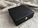"""Подарунковий набір бронзових стопок """"Мисливські"""" 8 штук, в кейсі з еко-шкіри, фото 4"""