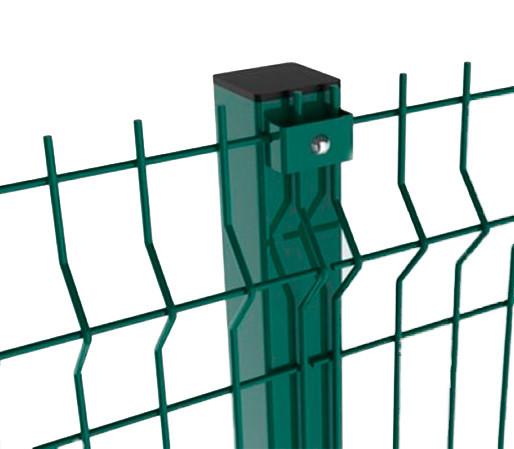 Столб заборный СІТКА ЗАХІД высота 4м размер 60х40мм ф1.5(оц+ПВХ)