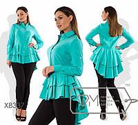 Рубашка женская бэби-долл (3 цвета) - Ментол SD/-8454, фото 1