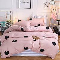 Ткань сатин для постельного белья Сердца Valentines (100% хлопок)