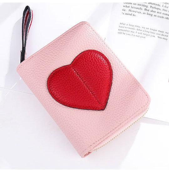 розовый маленький кошелек