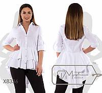 Рубашка женская бэби-долл (3 цвета) - Белый SD/-8454, фото 1