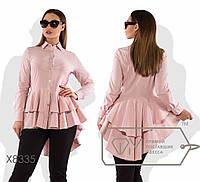 Рубашка женская бэби-долл (3 цвета) - Пудра SD/-8454, фото 1