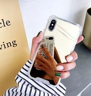 Зеркальный золотой силиконовый чехол iphone X/XS