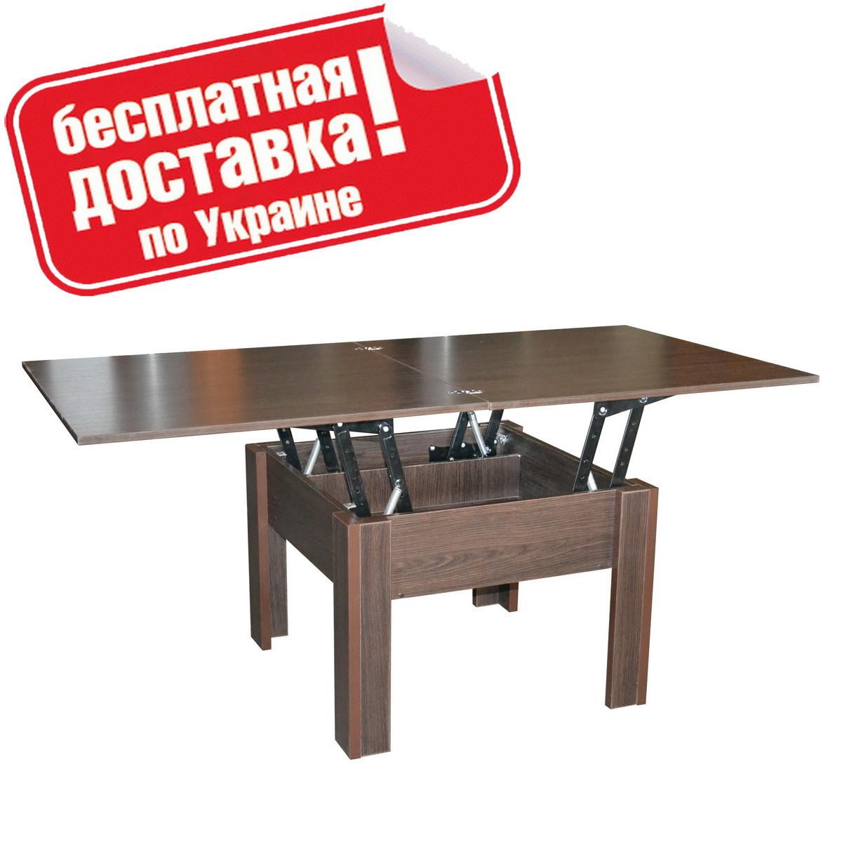 """Столик журнальный """"Комфорт Лайт"""" 140х70х77 см. Венге"""