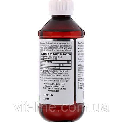 Natrol, Жидкий мелатонин, сон, натуральный ягодный вкус, 2,5 мг,  (237 мл), фото 2