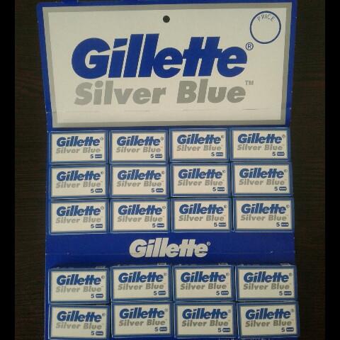 Леза двосторонні Gillette Silver ( Жиллетт сталь ) 5 шт. Новий дизайн!