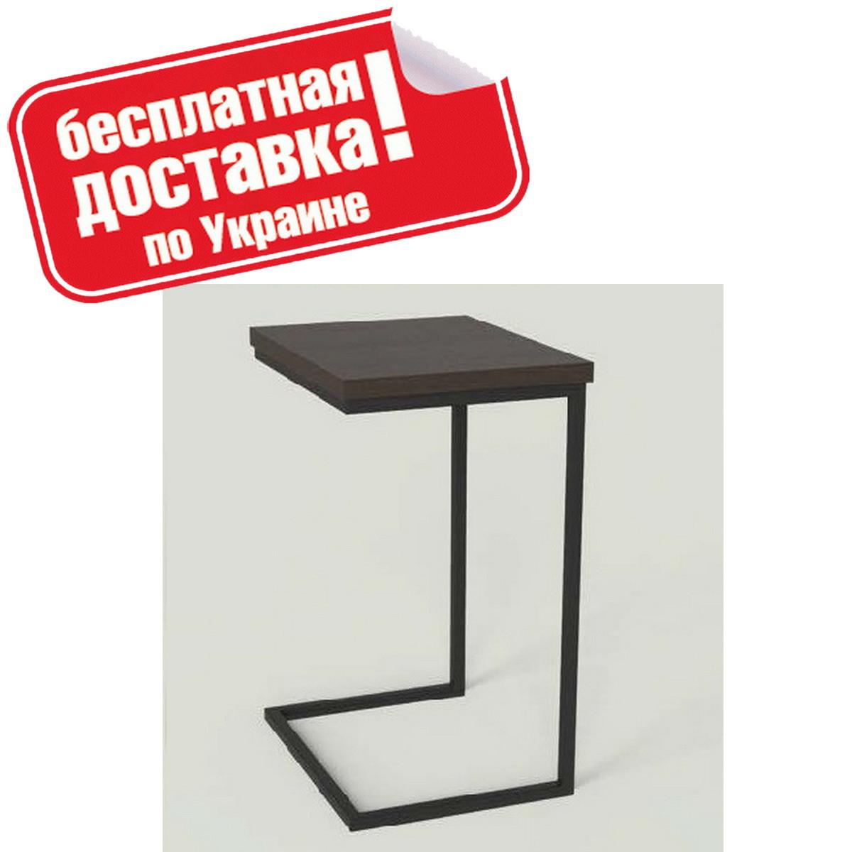 """Столик приставной """"Фиджи"""" 46х36х63 см. Черный/Венге"""