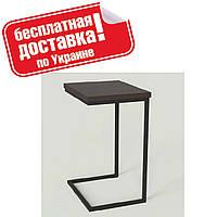 """Столик приставной """"Фиджи"""" 46х36х63 см. Черный/Венге, фото 1"""
