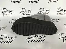 Стильные серые ботильоны ботинки на платформе, фото 2