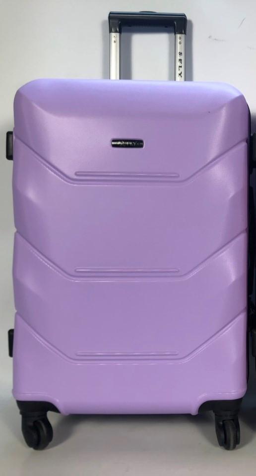 Малый пластиковый чемодан FLY 147 на 4 колесах Светло-фиолетовый