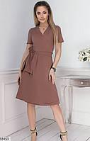 Платье женское летнее на запах софт размер 42-46 универсальный, 4 цвета