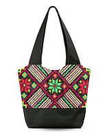 Женская сумка Узор красные и зеленые цветы