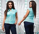 Летняя женская блуза из прошвы большого размера 48-54, фото 3